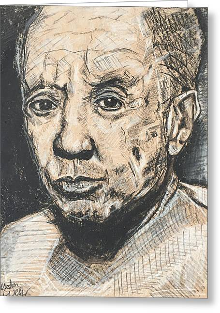 Mr. Pablo Picasso  Greeting Card by Justin Welch