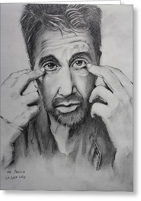 Mr. Pacino Greeting Card by Ted Castor