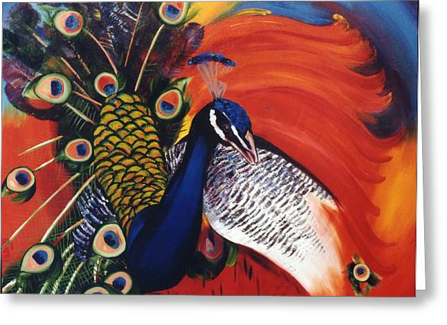 Mr Peacock Greeting Card