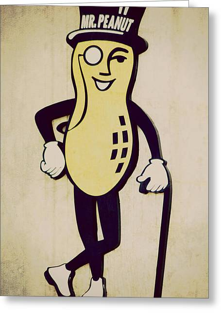 Mr Peanut Greeting Card
