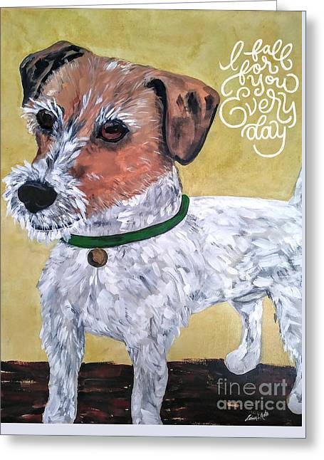 Mr. R. Terrier Greeting Card