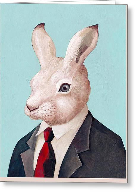 Mr Rabbit Greeting Card by Animal Crew