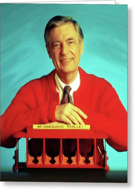 Mr Rogers With Trolley Greeting Card