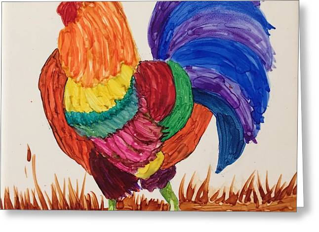 Mr Rooster Greeting Card