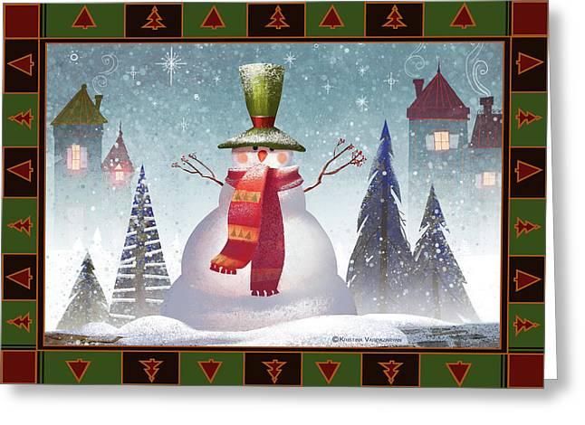 Mr. Snowman Greeting Card