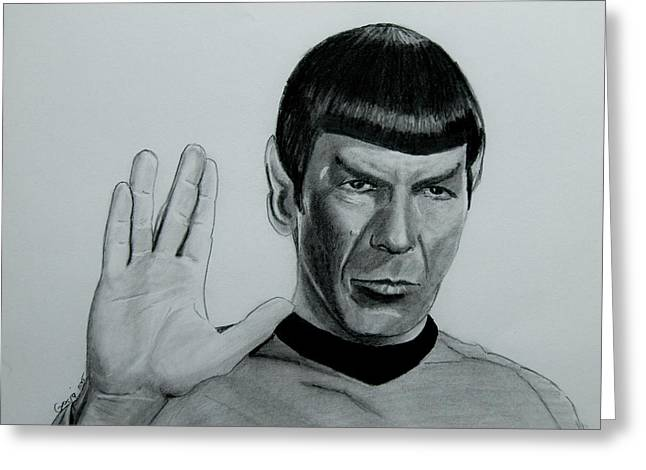 Mr. Spock Greeting Card by Gracja Waniewska