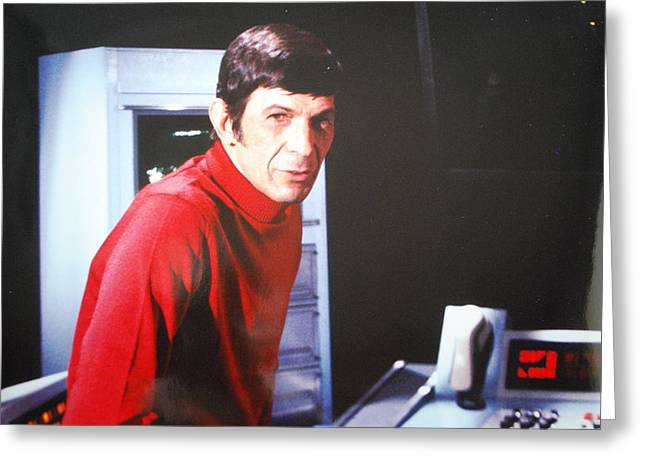 Mr. Spock Greeting Card by Roy Emmett