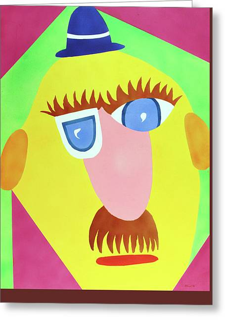 Greeting Card featuring the painting Mr. Strangefellow by Thomas Blood