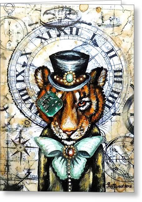 Mr. Tiger Greeting Card by Anna Griffard
