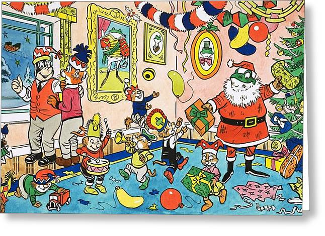 Mr Toads Christmas Party Greeting Card