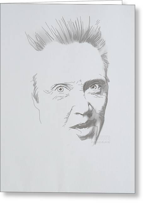Greeting Card featuring the mixed media Mr. Walken by TortureLord Art