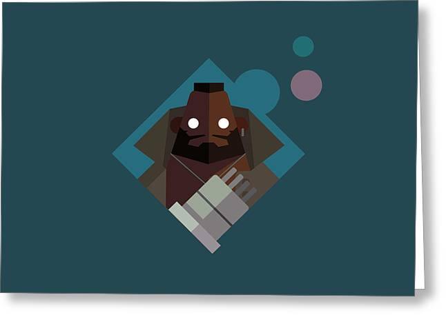 Greeting Card featuring the digital art Mr. Wallace by Michael Myers
