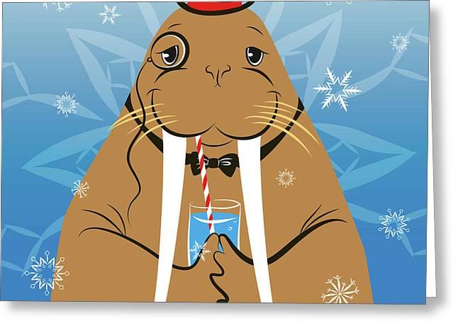 Mr. Walrus Greeting Card