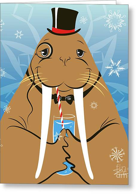 Mr. Walrus Greeting Card