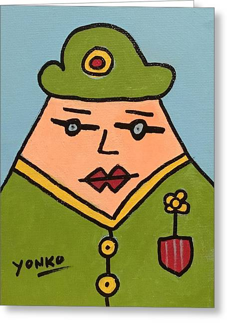 Mr. Yonko Greeting Card by Yonko Kuchera