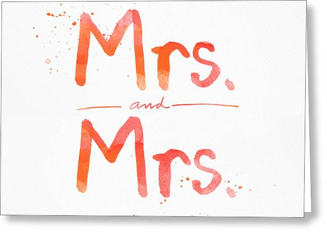 Mrs And Mrs Greeting Card