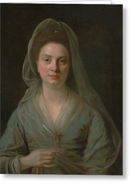 Mrs. Benjamin Cole Greeting Card by Nathaniel Hone