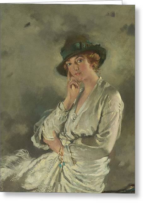 Mrs. Charles S. Carstairs Greeting Card by William Orpen