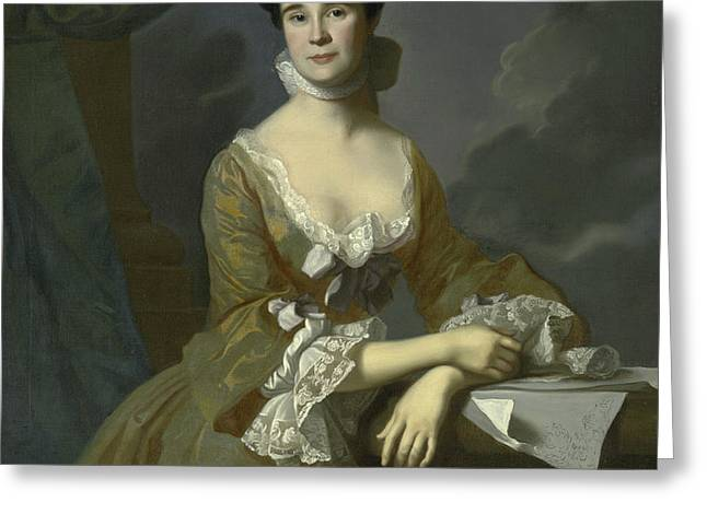 Mrs Daniel Hubbard  Greeting Card by John Singleton Copley