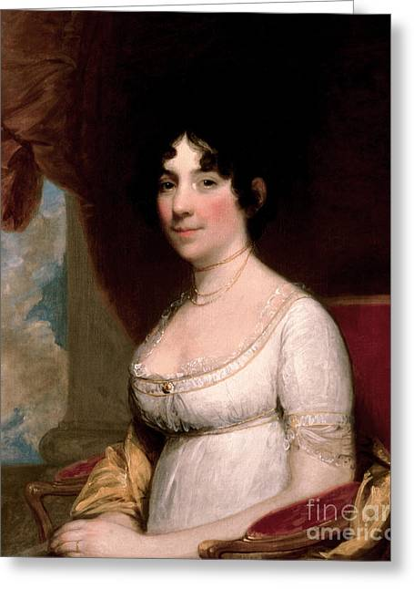 Mrs Dolley Madison, 1804 Greeting Card