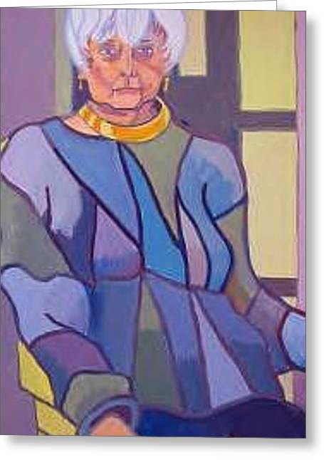 Mrs. Edith Lipton Greeting Card by Debra Bretton Robinson
