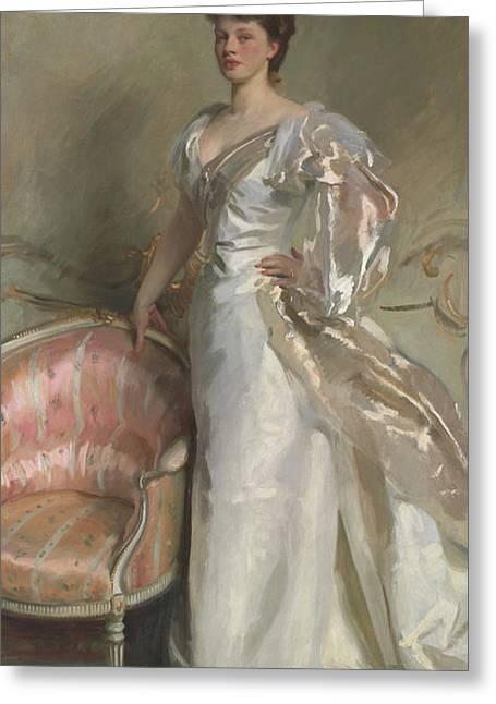 Mrs George Swinton  Elizabeth Ebsworth Greeting Card by John Singer Sargent