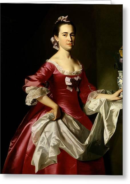 Mrs. George Watson Greeting Card by John Singleton Copley