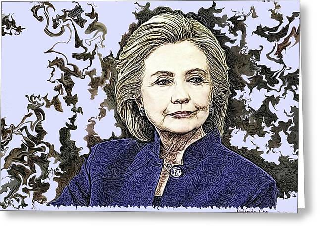 Mrs Hillary Clinton Greeting Card