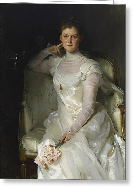 Mrs Joshua Montgomery Sears Greeting Card by John Singer Sargent