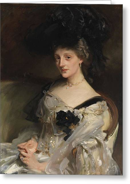 Mrs Philip Leslie Agnew Greeting Card by John Singer Sargent