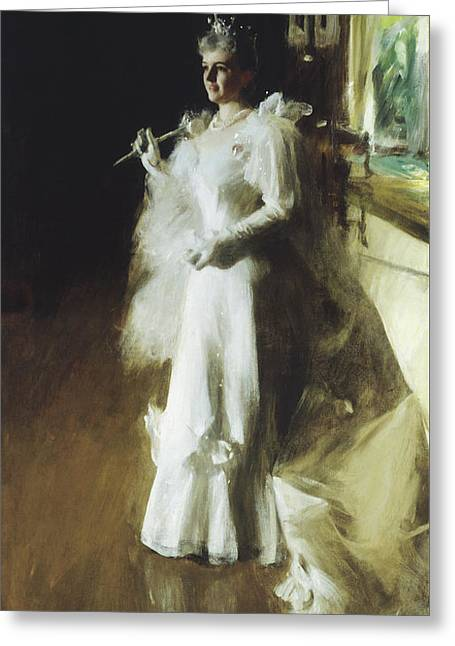 Mrs Potter Palmer Greeting Card by Anders Leonard Zorn