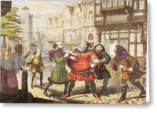 Mrs Quickly Has Sir John Falstaff Greeting Card