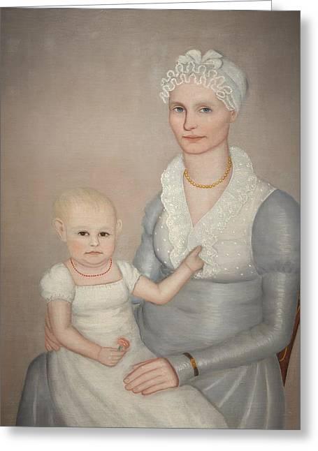 Mrs Wilbur Sherman And Daughter Sara Greeting Card by Mountain Dreams
