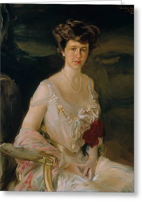 Mrs. Winthrop W. Aldrich Greeting Card by Joaquin Sorolla