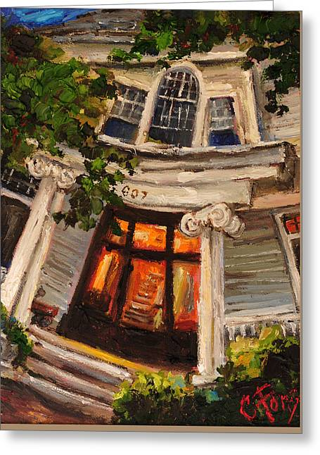 Ms Felkers Home Greeting Card by Carole Foret