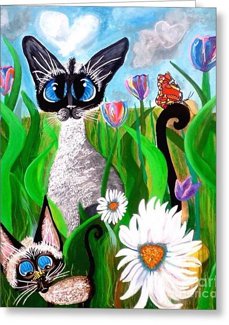 Ms Lily Momma Bonnie The Butterfly Greeting Card by Mary Sisson