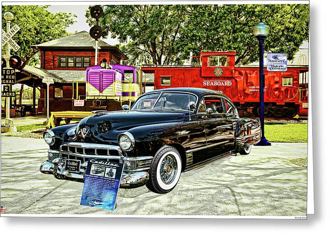 Ms Liz The 49 Cadillac Greeting Card by Rogermike Wilson