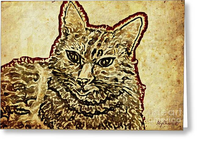 Ms Lotte Cat Greeting Card by Art by MyChicC