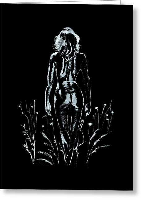 Ms Natural Charcoal Greeting Card by Zoei Fine Art