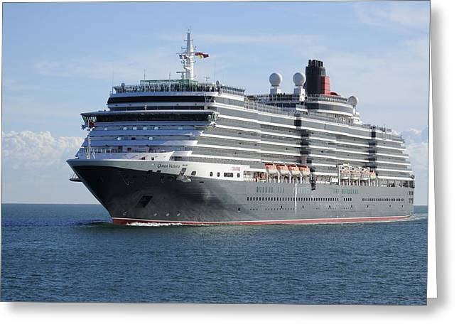 Greeting Card featuring the photograph Ms Queen Victoria Approaching by Bradford Martin