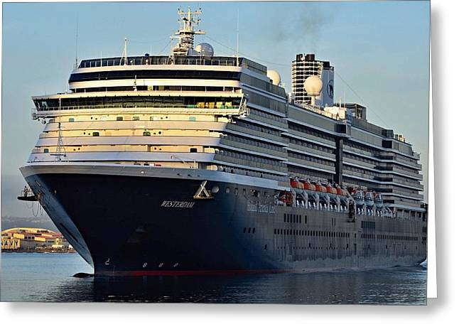 Ms Westerdam-  San Diego Greeting Card by See My  Photos