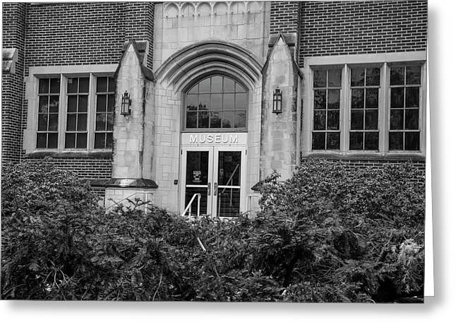 Msu Museum Black And White  Greeting Card by John McGraw