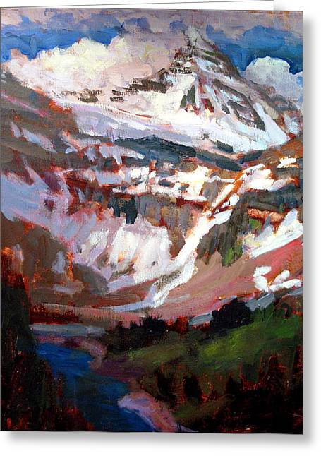 Mt. Assiniboine Greeting Card by Brian Simons