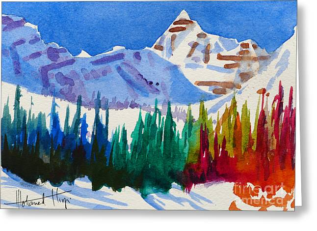 Mt. Athabasca, Jasper Greeting Card by Mohamed Hirji
