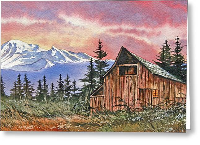 Mt. Baker Dawn Greeting Card by James Williamson