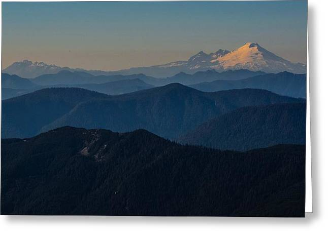 Mt. Baker From Mt. Pilchuck Greeting Card
