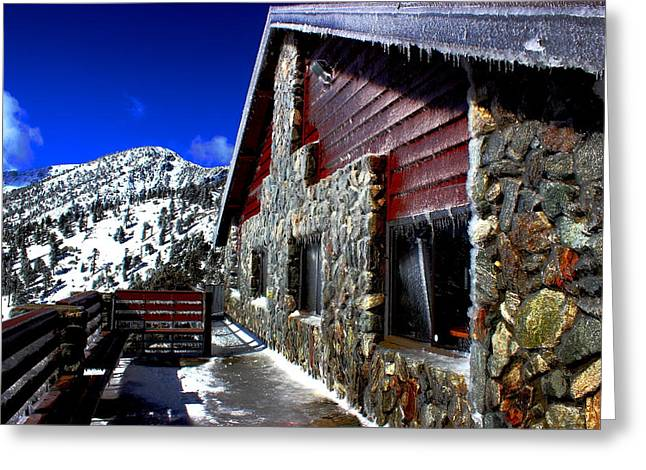 Mt. Baldy - Frozen Greeting Card