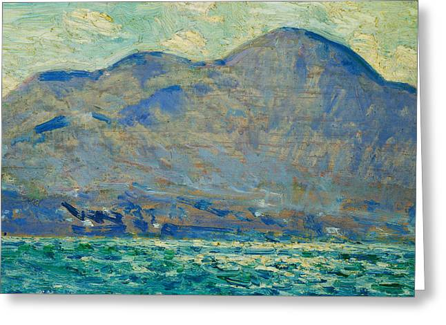 Mt. Beacon At Newburgh Greeting Card by Childe Hassam