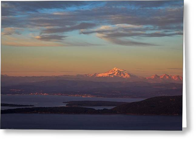 Mt Constitution Sunset Greeting Card