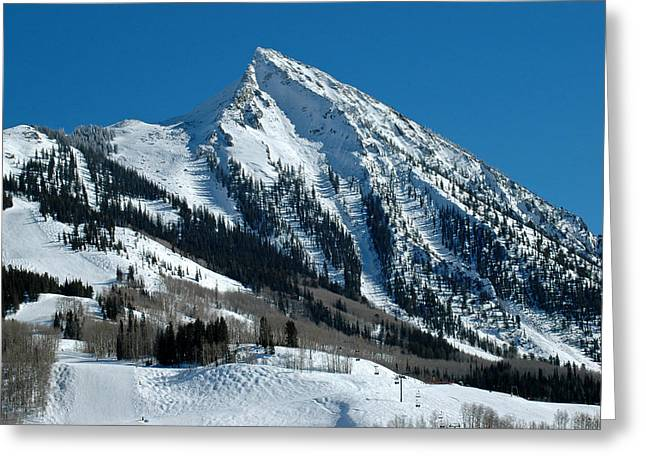 Mt Crested Butte Greeting Card by Teresa Blanton